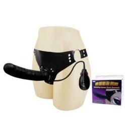 DV013D Dương vật giả có dây đeo có rung và làm to tự động cực đã