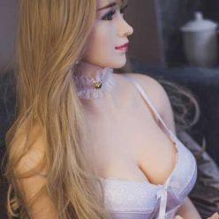 B10 1M40 GEORGETTED nàng búp bê tình dục châu Âu mái tóc vàng